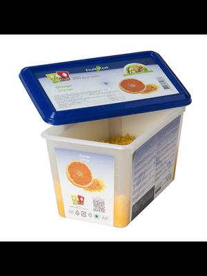 CAPFRUIT Frozen Fruit'Zest ORANGE - 500gr Tub (France)