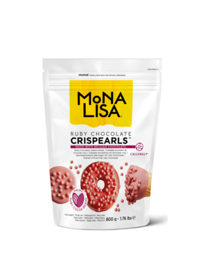 MONA LISA Crispy Cereals Coated with Ruby Chocolate CRISPEARLS RUBY - 800gr Bag (Belgium)