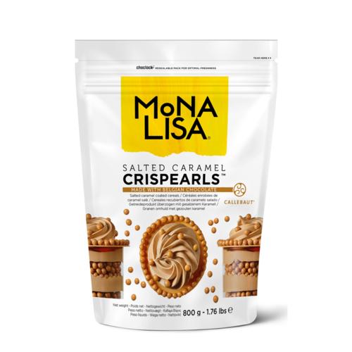MONA LISA Crispy Cereals Coated with Salted Caramel Chocolate CRISPEARLS SALTED CARAMEL - 800gr Bag (Belgium)