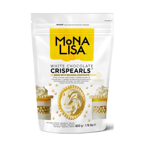 MONA LISA Crispy Cereals Coated with White Chocolate CRISPEARLS WHITE - 800gr Bag (Belgium)