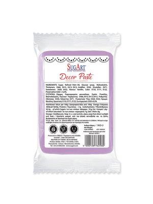 SUGART Decor Paste sugar paste LILAC - 1kg Pack (Greece)