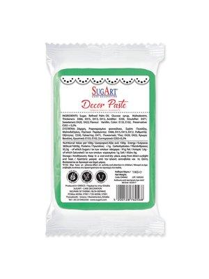 SUGART Decor Paste sugar paste GREEN - 1kg Pack (Greece)