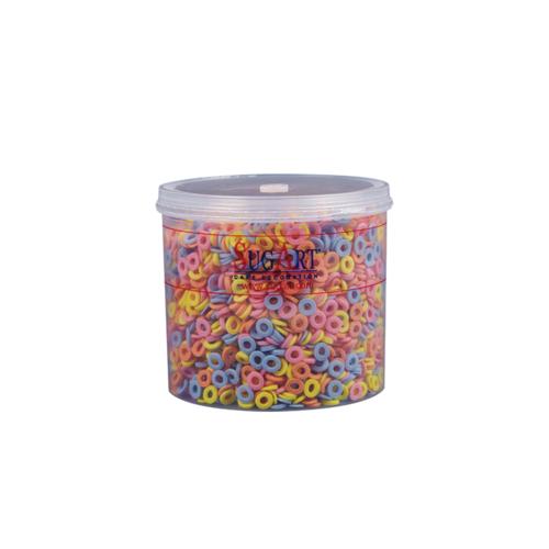 SUGART Decor SUGAR CIRLCES Multicoloured - 400gr Pack (Greece)