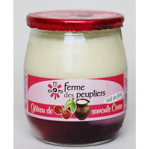 FERME DES PEUPLIERS Yoghurt Cherry 125g (France)