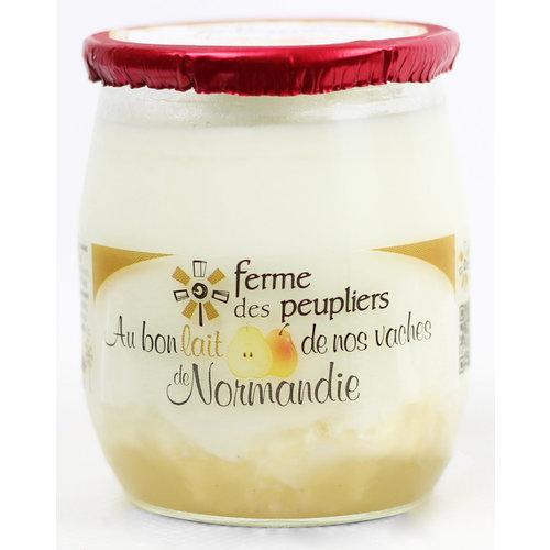 FERME DES PEUPLIERS Yoghurt Pear 125g (France)