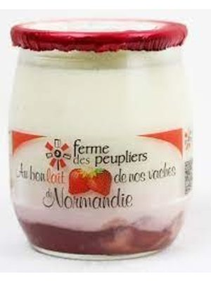 FERME DES PEUPLIERS Yoghurt Strawberry 125g (France)