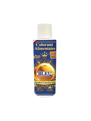 DECO RELIEF Water Base Highly Concentrated Food Colorant BLUE - 125ml Bottle (France)