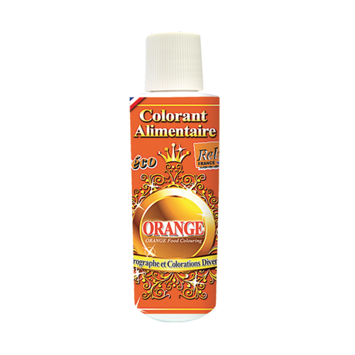 DECO RELIEF Water Base Highly Concentrated Food Colorant ORANGE - 125ml Bottle (France)
