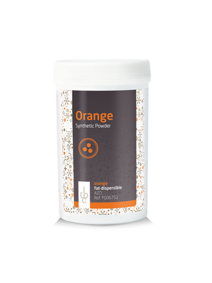 IBC Fat base Food Colouring Powder ORANGE - 100gr (Belgium)