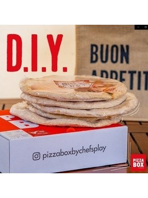 PIZZA BOX BY CHEF'S PLAY DIY Pizza Box All Stars 3's (Frozen Pizza Bases)