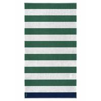 Strandlaken met strepen -  groen