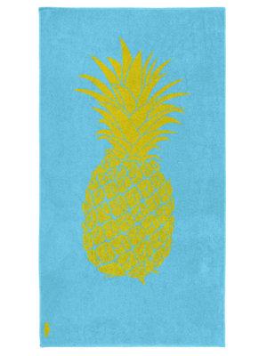 Seahorse Velours strandlaken Pineapple