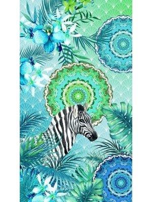 HIP Velours strandlaken Zebra