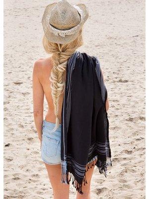 Strandhanddoek zwart