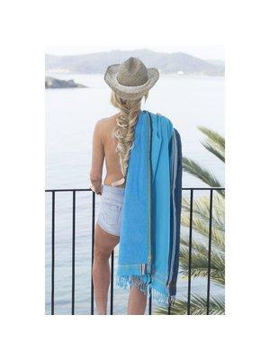 Strandhanddoek turquoise