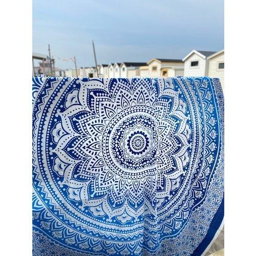 Familie strandlaken Mandala blauw