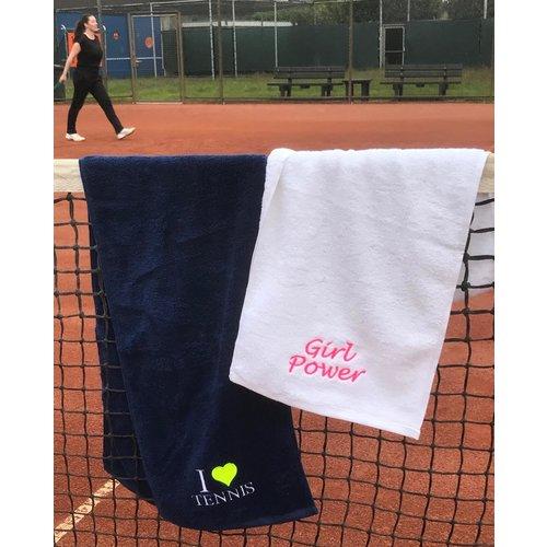 Sporthanddoek met borduring