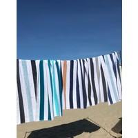 Velours strandlakens met strepen