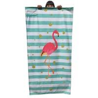 Streep strandlaken Flamingo
