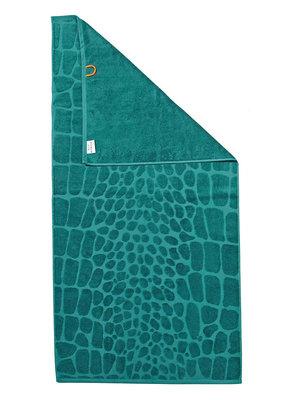 Badhanddoek met krokodillenprint
