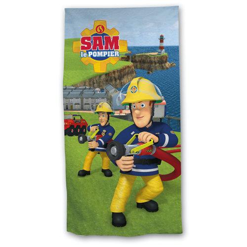 Kinderstrandlaken Sam de Brandweerman