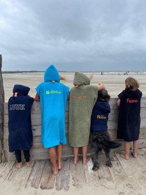 S&LT Kinder surfponcho gepersonaliseerd
