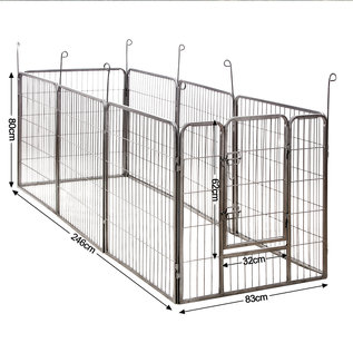 KLD Puppyren 8 hoekig  80 cm. hoog grijs hamerslag