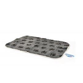 Duvo+ Vetbed grijs + voetprint 75x50 cm.