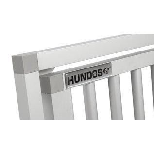 Hundos Aluminium Deur in kozijn 64,6 cm. breed 69,5 cm. hoog.