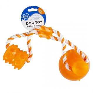 Duvo+ Tug `n chew toy Oranje 40x10,3x10,3cm