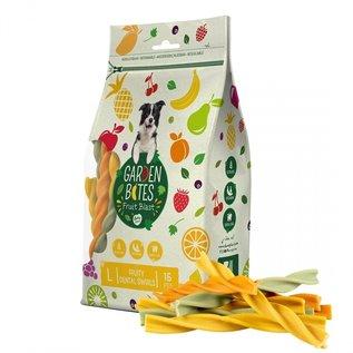 Duvo+ Garden bites fruity dental swirls Gemengde kleuren 16 cm-15 stuks 270 gram