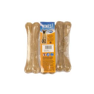 Duvo+ Kauw bot runderhuid 12,5 cm  -3 stuks