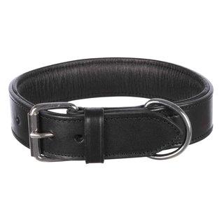 Trixie Halsband zwart leder 40 mm breed 38-45 cm. M