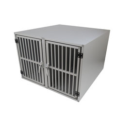 Hundos Maatwerk Aluminium Autobench Recht Model 2-Vaks