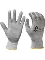 Werkhandschoen snijbestendig, PU-handpalm en HDPE liner maat 10