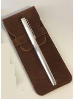 Vulpen Sterling zilver 925 inclusief handgemaakt lederen etui cognac bruin