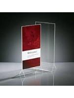 Sigel presentatietafelstandaard, glashelder, 240 x 105 mm.