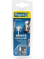 Rapid Rapid Waterdichte blindklinknagel Ø 4,8 x 14 mm 50 stuks + boortje
