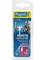 Rapid Rapid Waterdichte blindklinknagel Ø 3,2 x 8 mm 50 stuks + boortje