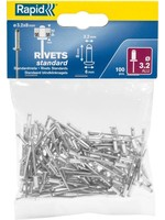 Rapid Rapid blindklinknagel aluminium 3,2 x 8 mm 100 stuks