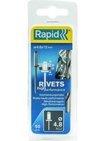 Rapid Rapid blindklinknagel 4,8 x 12 mm 50 stuks
