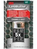 3M 3M™ SandBlaster™ Ultra Flexible Schuurspons, 960SBE, P60, 11,4 x 6,3 x 2,5 cm,1 kaart
