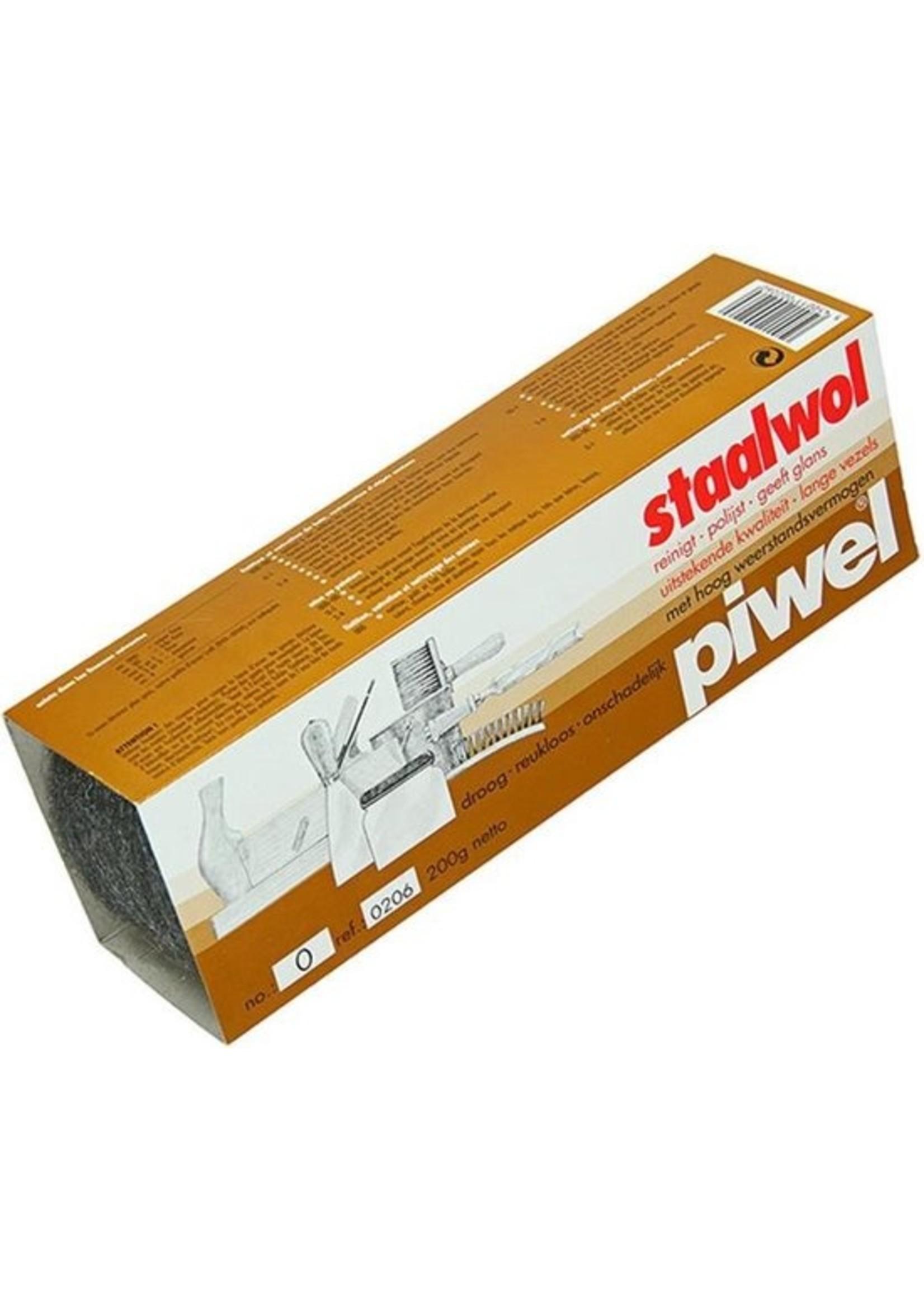 Piwel 2 x Piwel staalwol 200 gram per pak maat 3
