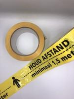 Vloertape Afstand houden geel / zwart 50 mm x 33 mtr - Corona - Covid19