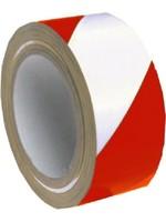 Markeringstape PVC voor het verhogen van de veiligheid. Rood / Wit
