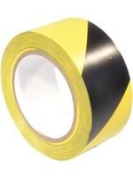 Markeringstape PVC voor het verhogen van de veiligheid. Geel / Zwart.