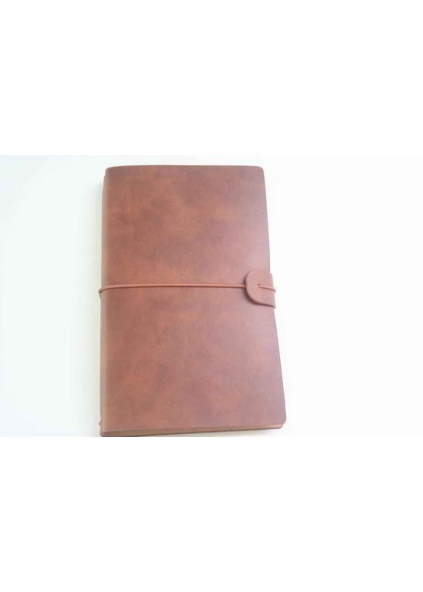 Handmade Leather Travel Journal Bruin
