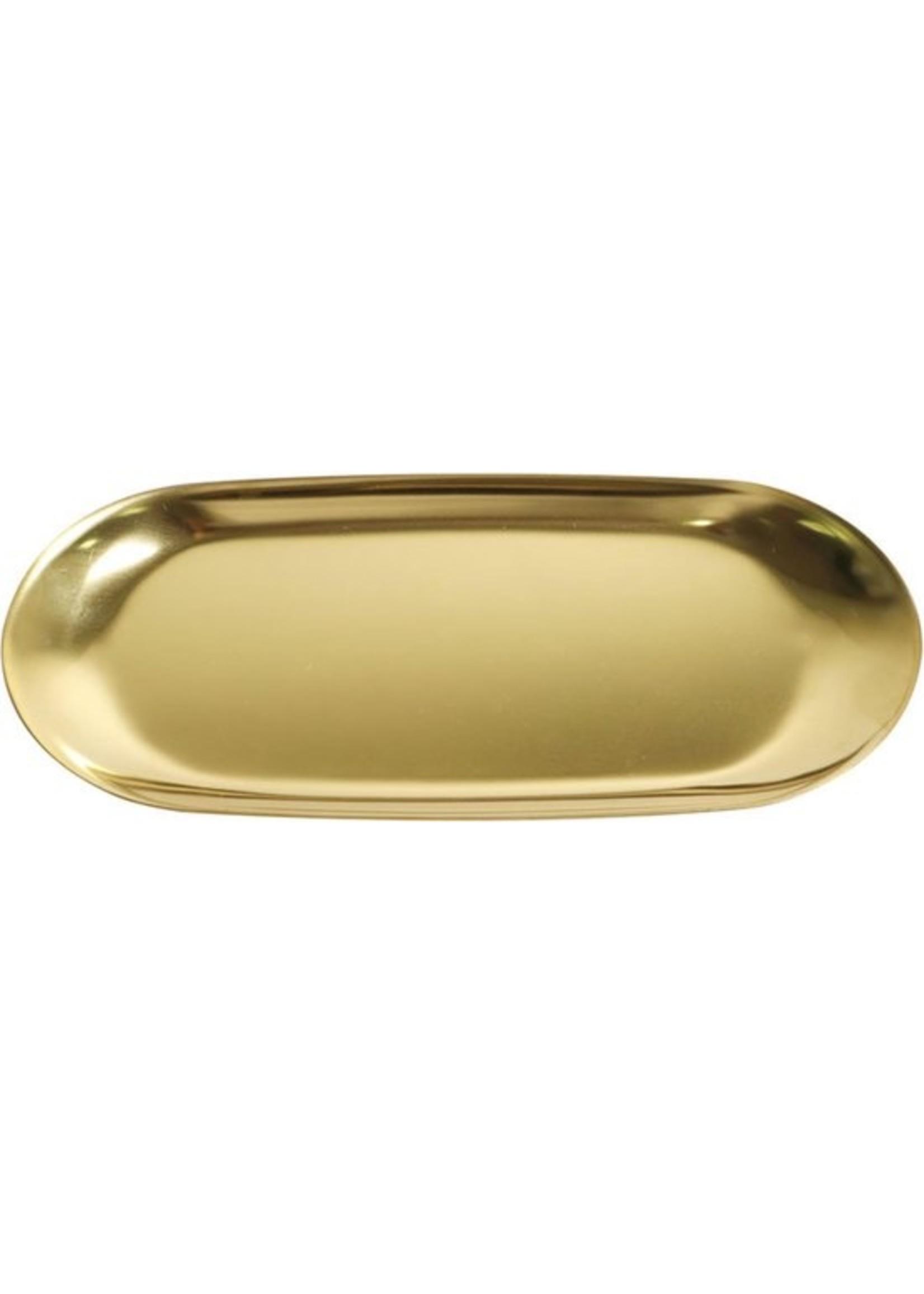 The Otter Bottle Gouden schaaltje van messing groot formaat