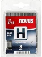 Novus Fine wire Staple H 37/8 SH (2000 St) 2000 pc(s) Novus 042-0370 Clip type 37/8 super hard Dimensions (L x W) 8 mm x 10.6 mm