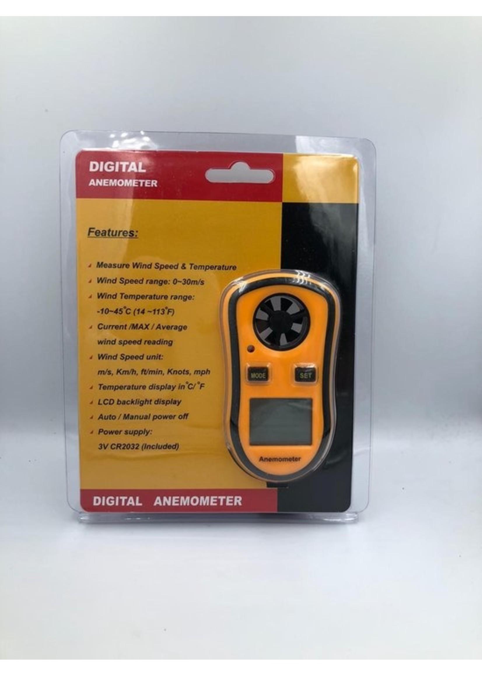 Spider Digitale Anemometer Windsnelheids meter met ingebouwde thermometer